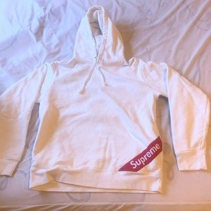 White supreme hoodie. Men's medium